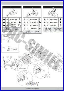 Attelage Col de Cygne 13Br C2 Kit pour Fiat 500 Abarth Hayon 08 13169FRA1