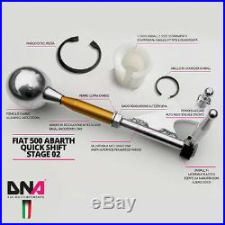 DNA Course Stage 2 Quickshift Kit + Billet Vitesses pour Fiat 500 Abarth