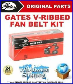 GATES V-Rib Courroie Ventilateur Kit pour Abarth Grande Punto 1.4 (199. AXX1B)