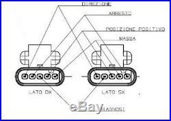 Kit 2 Lumières Arrière droite et gauche MAGNETI MARELLI LLI411 LLI412 ABARTH