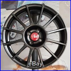 Kit 4 Jantes Alliage 7,5jx17 pour ABARTH 124 et FIAT 124 Spider (Black)