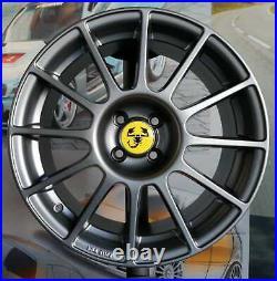 Kit 4 Jantes Alliage 7,5jx17 pour Fiat 500 C, ABARTH, SS, 595, 695 Competizione
