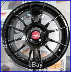 Kit 4 Jantes alliage 7jx17 pour Fiat 500 ABARTH (135 190PS) poids 8,2 kg (BLG)