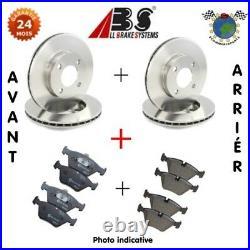 Kit Complet Disques Et Plaquettes Avant + Arrière Abs Pour Abarth 500 B4c