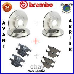 Kit Complet Disques Et Plaquettes Avant + Arrière Brembo Pour Abarth 500 #Er
