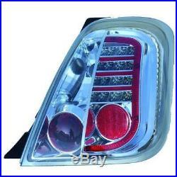 Kit de feux arrières version LED chrome FIAT 500 + ABARTH de 07 à