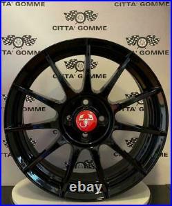 Set 4 Jantes en Alliage Abarth 500 De 17 + 4 Pneus 205/40R17 Pirelli P-Zéro
