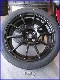 Set Roues et Pneus 17 pour Fiat Grande Punto Abarth KIT09 B Sparco Pirelli