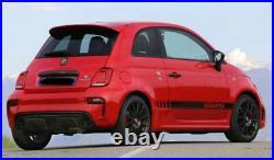 Tapis de Voiture Coffre Kit pour Fiat 500 Abarth Cognac Nubuk Velours 5teilig